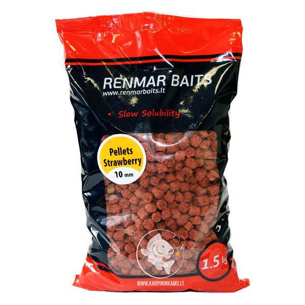 RENMAR BAITS Pellets peletės (Strawberry, 10 mm, 1.5 kg)