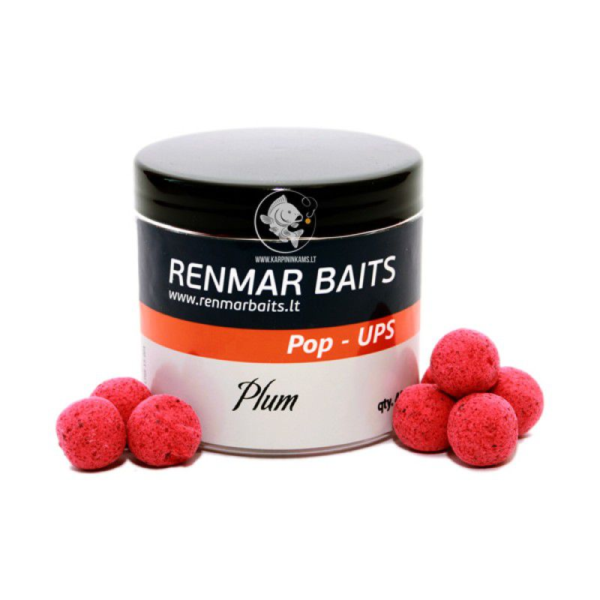 RENMAR BAITS Plum Pop Up Boilies plaukiantys masaliniai boiliai (16 mm, 40 vnt.)