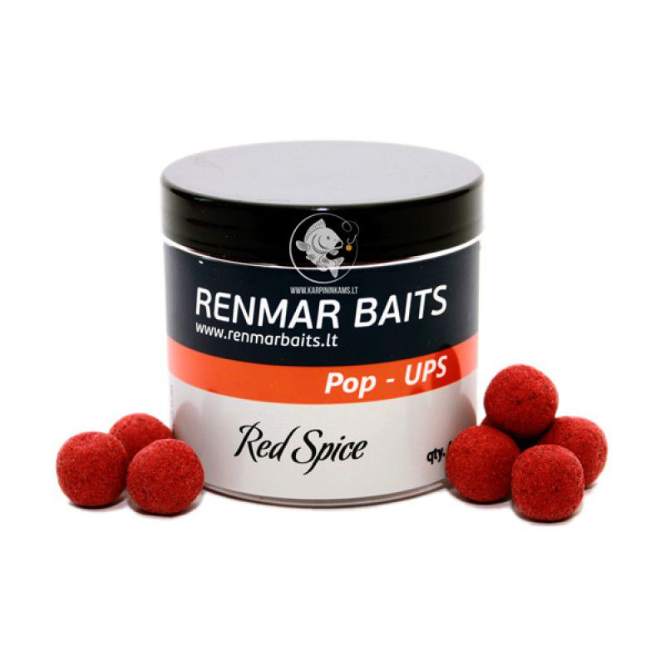 RENMAR BAITS Red Spice Pop Up Boilies plaukiantys masaliniai boiliai (16 mm, 40 vnt.)