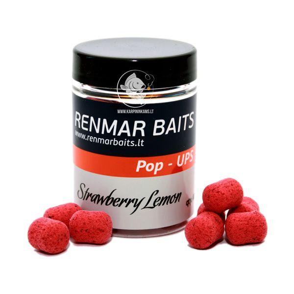 RENMAR BAITS Strawberry Lemon Pop Up Boilies plaukiantys masaliniai boiliai (12x16 mm, 40 vnt.)